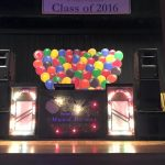 disco set up with balloons