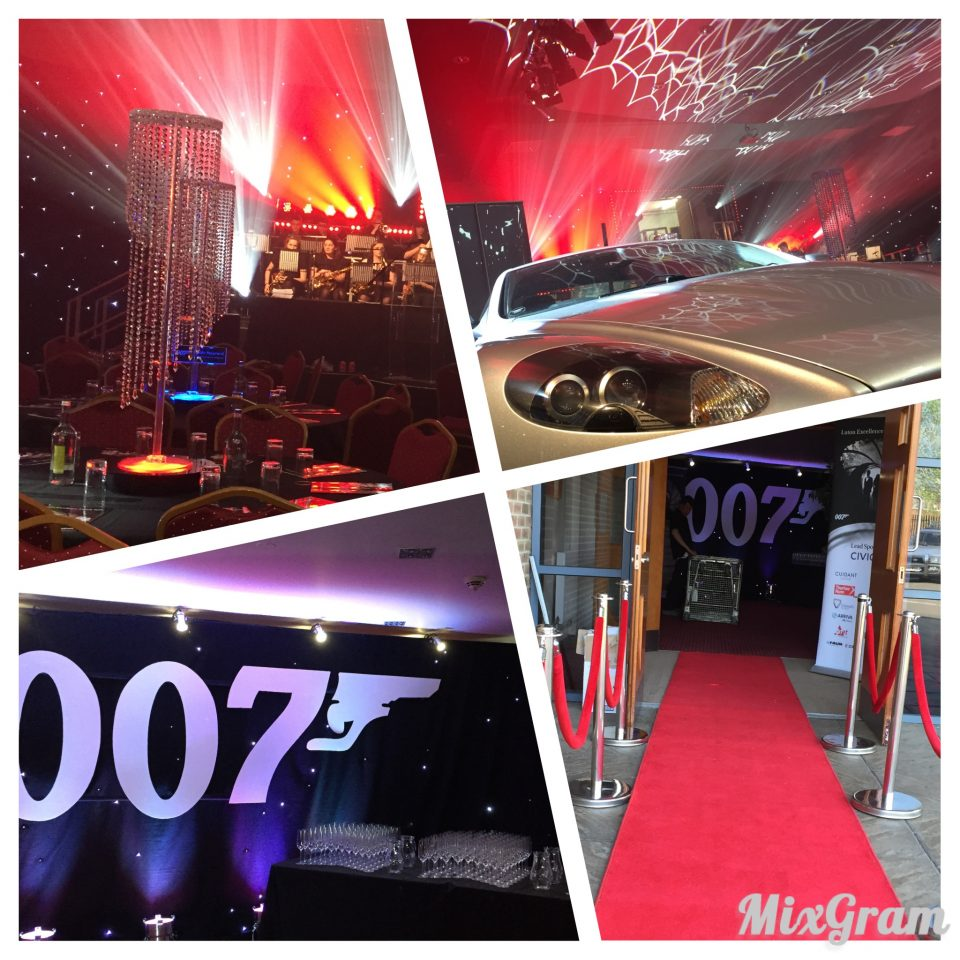 Bond themed awards ceremony jezo for 007 decoration ideas