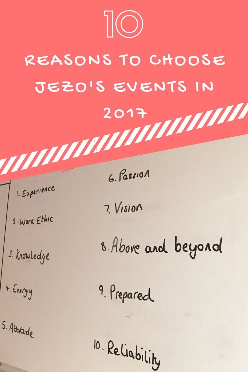 10 Reasons to Choose JezO's Events