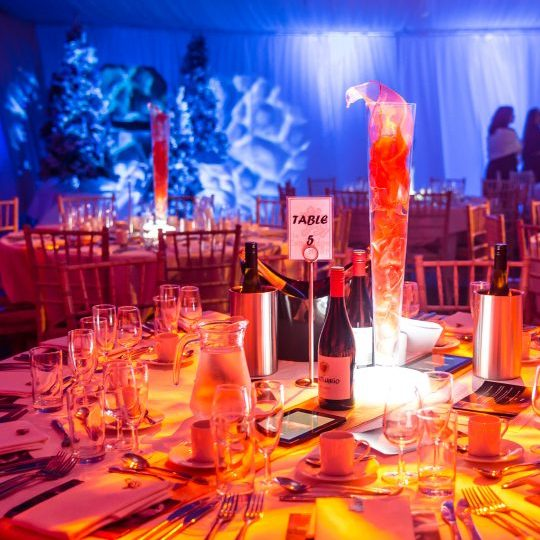 Event lighting and table decor